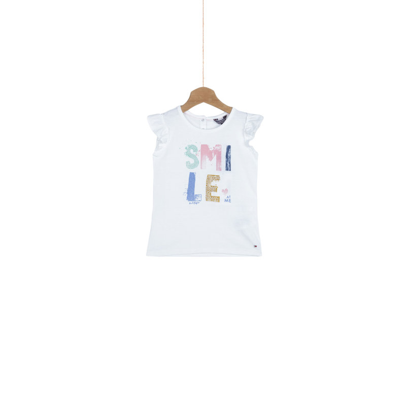 Smile T-shirt Tommy Hilfiger white
