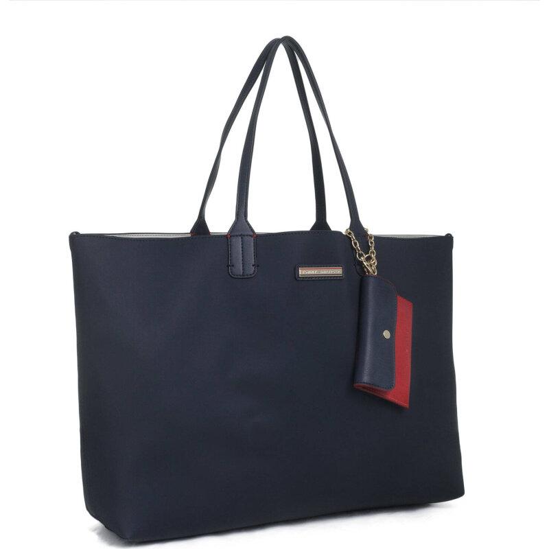 Reversible Spring Shopper bag Tommy Hilfiger navy blue