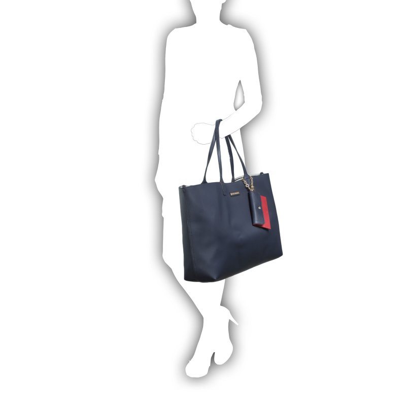 Reversible Spring Shopper bag Tommy Hilfiger navy blue