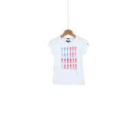 Flag Mini T-shirt Tommy Hilfiger white