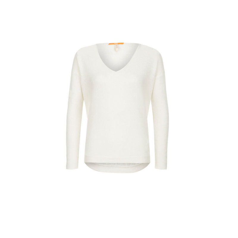 Sweter Wiltora Boss Orange kremowy