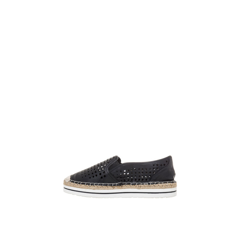 Espadryle Cut-Out Love Moschino czarny