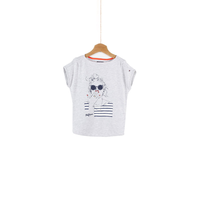 T-shirt Girl Voyage Tommy Hilfiger szary