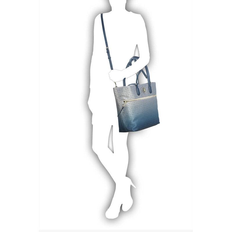 Shopperka Jacquard Tommy Hilfiger niebieski