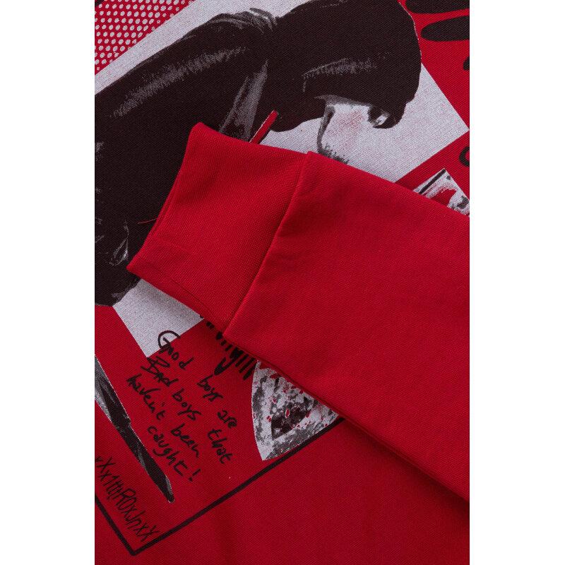 Bluza Trussardi Jeans bordowy