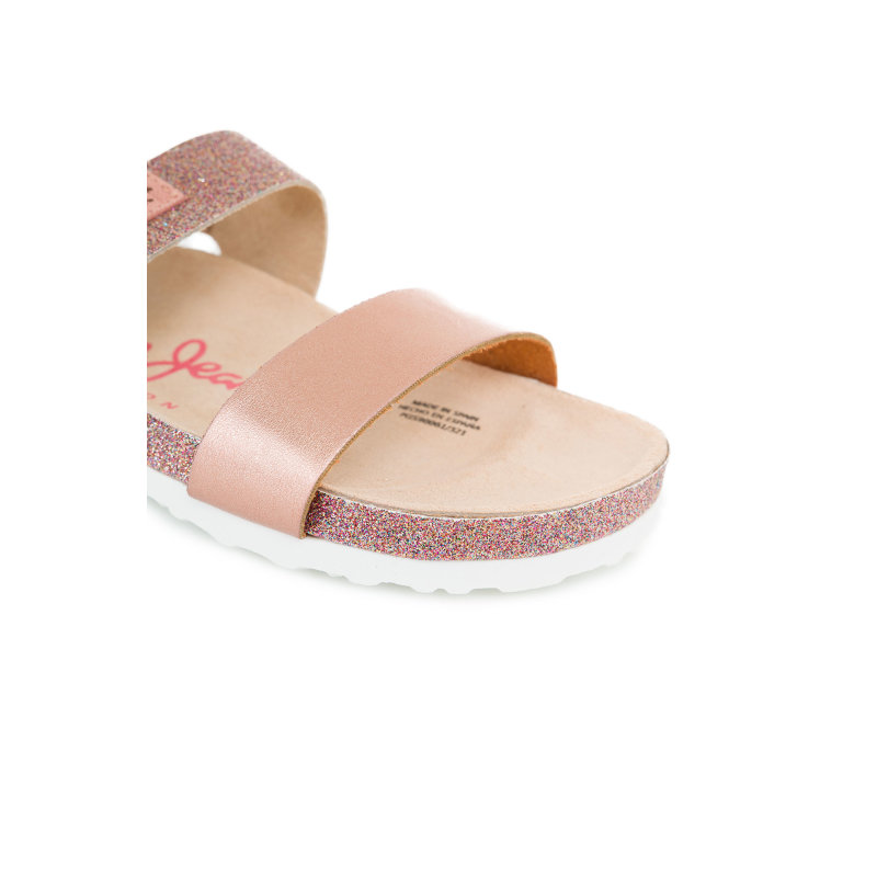 Sandały Bio Glitter Pepe Jeans London różowy