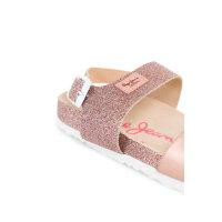 Bio Glitter sandals Pepe Jeans London pink