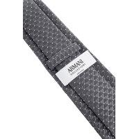 Krawat Armani Collezioni szary
