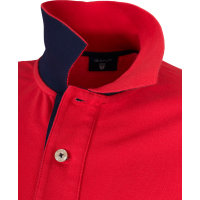 Contrast Collar Rugger Polo Gant red