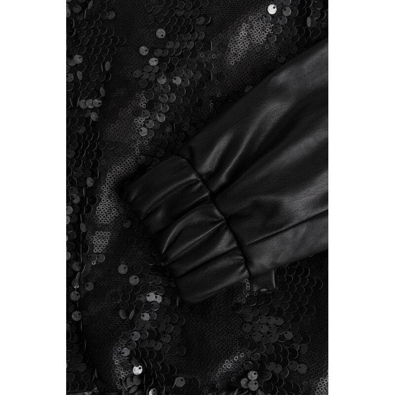 Kurtka Bomber  CELEBRITY SEQUINS Guess Jeans czarny