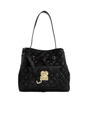 Love Moschino Heart Quilted Bucket Bag