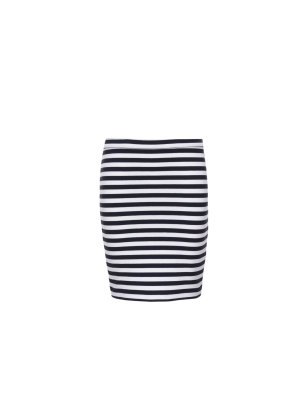 Tommy Hilfiger Ame Knitted Stripe Pencil Skirt