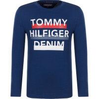 Longsleeve Tommy Hilfiger granatowy