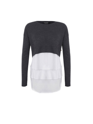 Twinset Wełniany Sweter + Top