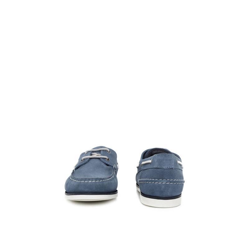 Mokasyny Deck 5B Tommy Hilfiger niebieski