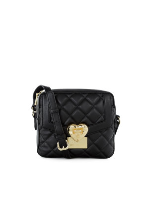 Love Moschino Heart Quilted Messenger Bag