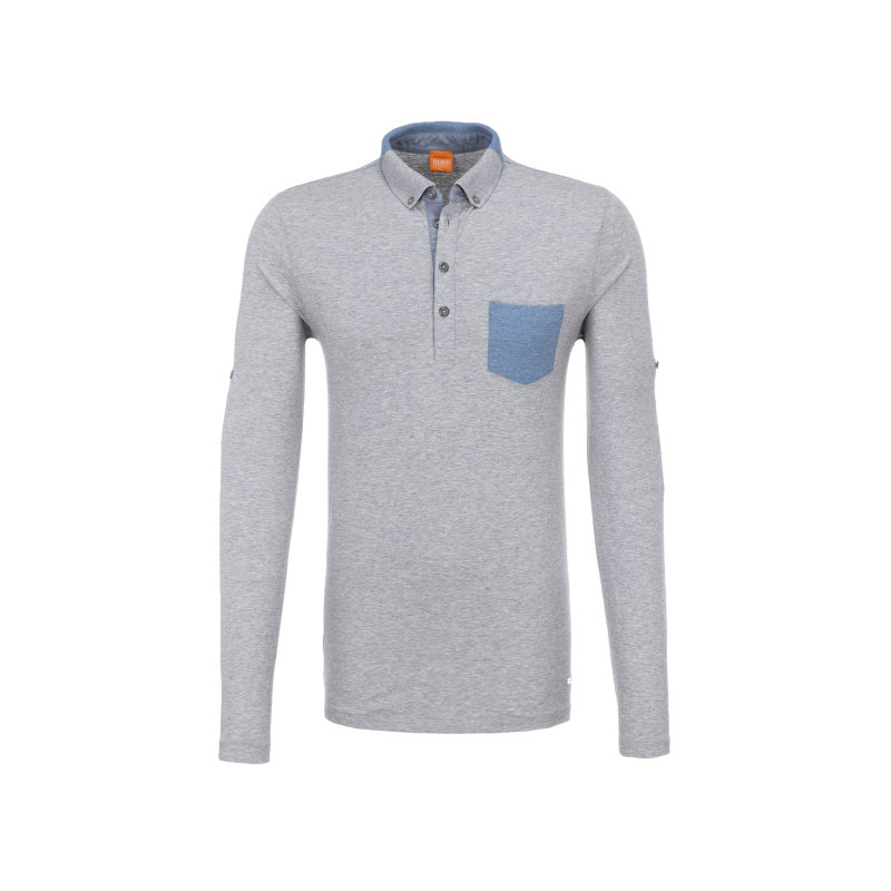 Patches 1 Polo Boss Orange gray