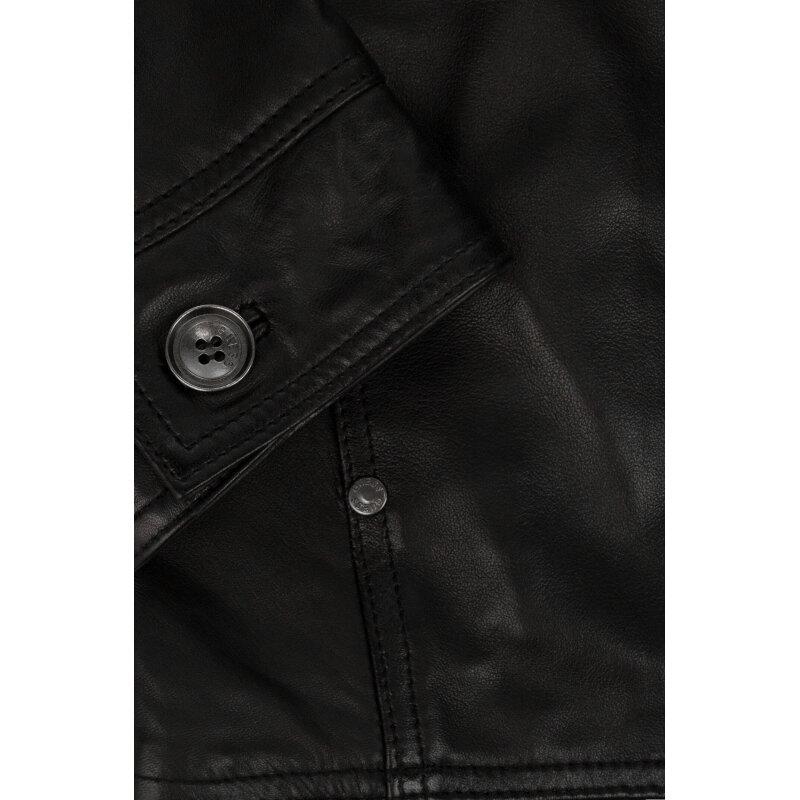 Kurtka Skórzana Guess Jeans czarny