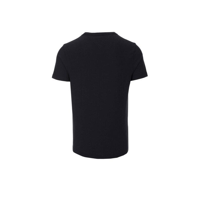 T-shirt Flag Tee C-NK Tommy Hilfiger czarny