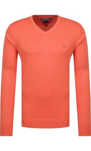 Tommy Hilfiger Sweter | Regular Fit | z dodatkiem jedwabiu