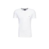 T-shirt Flag Tee C-NK Tommy Hilfiger biały