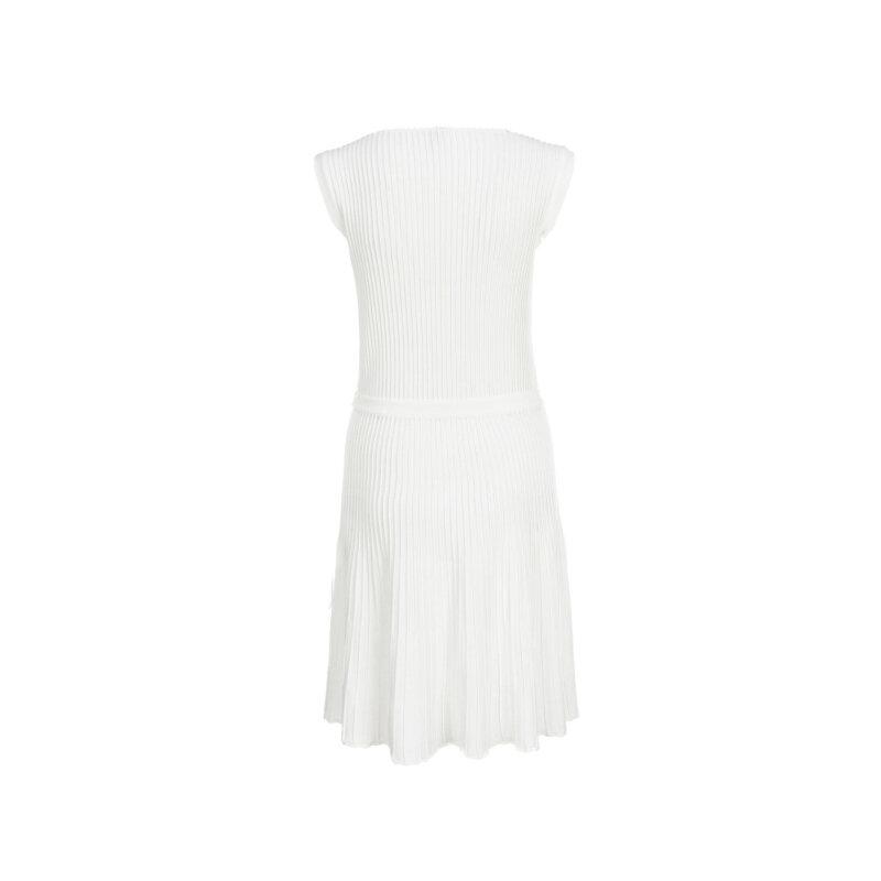 Sukienka Armani Collezioni kremowy