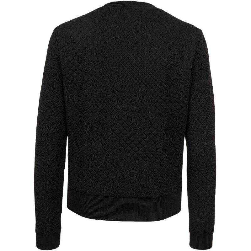 Bluza  CLOUDS JACQUARD Guess Jeans czarny