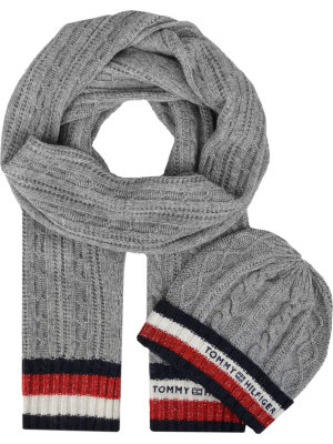 Tommy Hilfiger Beanie + Corporate Scarf