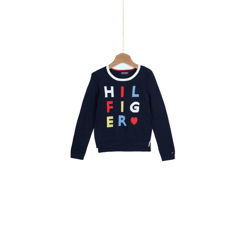 Sweter Hilfiger Mini Tommy Hilfiger granatowy