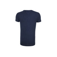 T-shirt Halbarm Hilfiger Denim granatowy