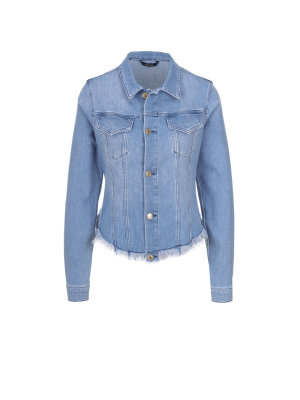 Guess Jeans Frayed Denim Jacket