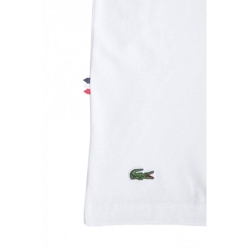 T-shirt Lacoste L!ve kremowy