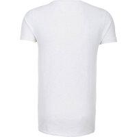 T-shirt Halbarm Hilfiger Denim biały