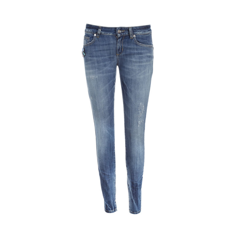 Jeansy Fabulous Bottom up Liu Jo Jeans granatowy