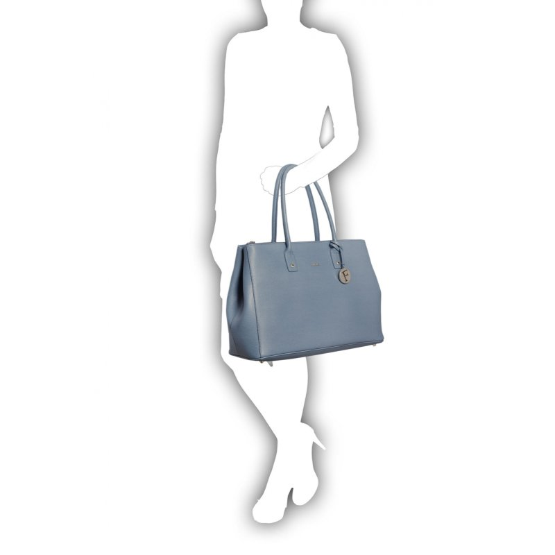 Linda Shopper bag Furla blue