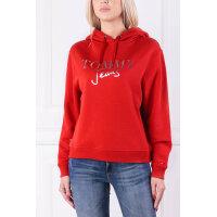 Bluza TJW MODERN LOGO HOOD | Regular Fit Tommy Jeans czerwony