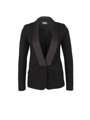 Karl Lagerfeld Satin Trimmed Punto Blazer