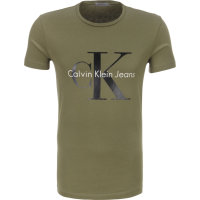 T-shirt Mid Calvin Klein Jeans zielony