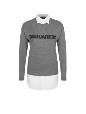 Dsquared2 Wełniany sweter