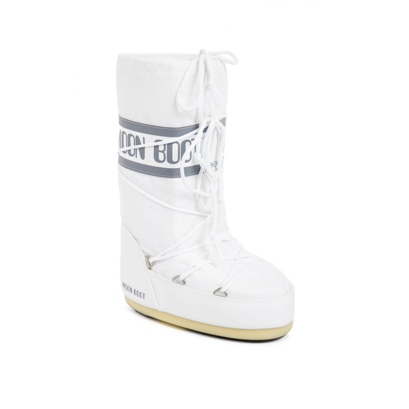 Nylon Snow boots Moon Boot white