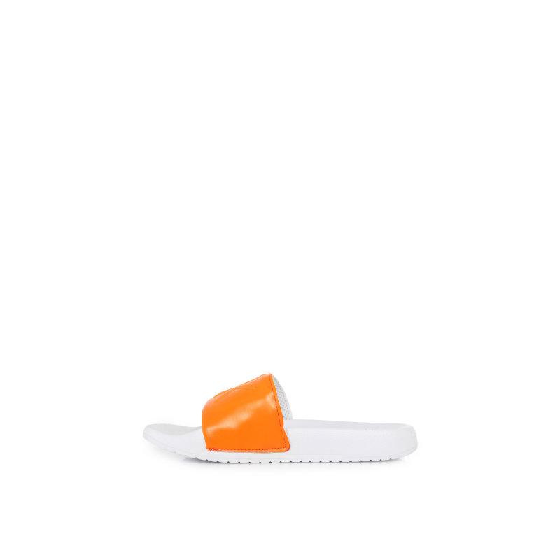 Klapki Charlotte Matte Smooth Calvin Klein Jeans pomarańczowy