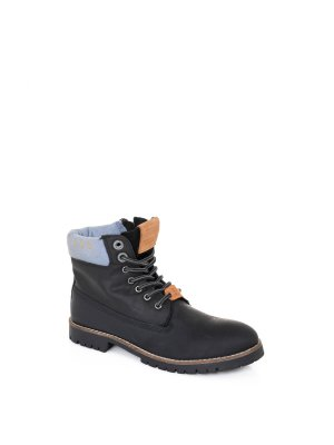 Pepe Jeans London Combat Collar Boots