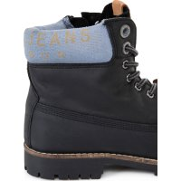 Combat Collar Boots Pepe Jeans London black