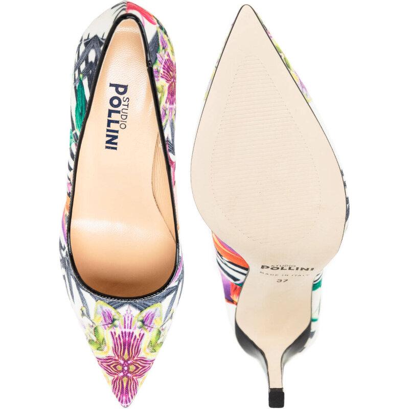 Stilettoes Pollini white
