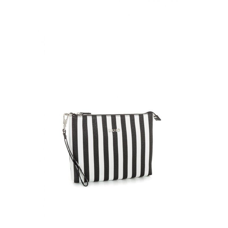 Stripes clutch Liu Jo black
