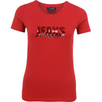 T-shirt Armani Jeans czerwony
