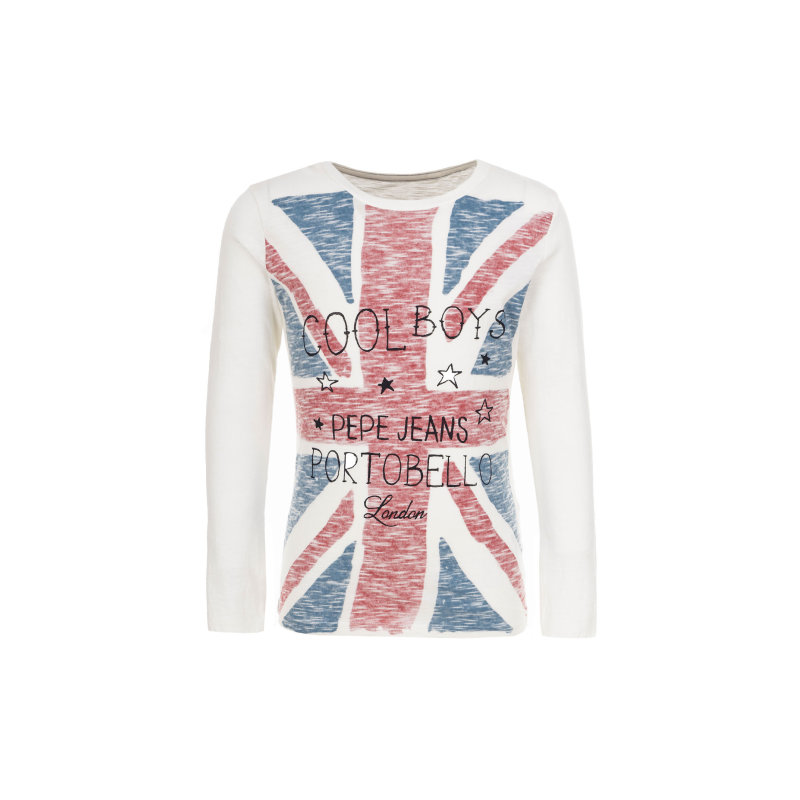 Longsleeve Terry kids Pepe Jeans London kremowy