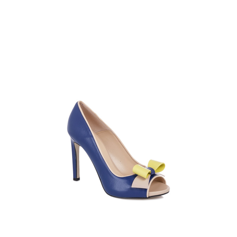 High heels Pollini navy blue