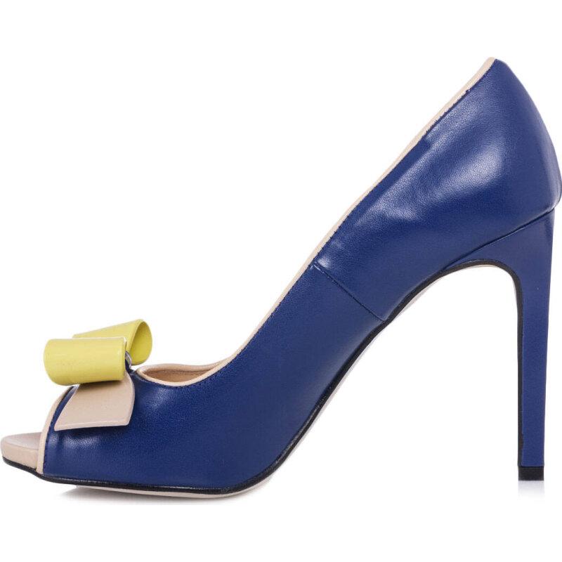 High heels Pollini navy blue