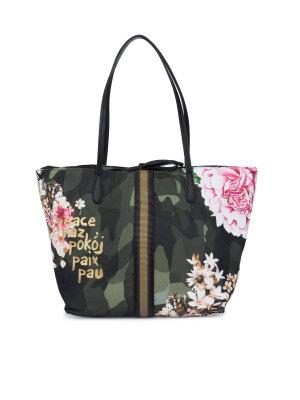 Desigual Dwustronna shopperka 2w1 Bols_Capri Militar Flores